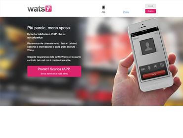 Watsy offers free calls to all other Watsy users, assures transparency in the call charges, be it landline or mobile, domestic or international, and also promises the quality of the VoIP telephony in Phone and App version